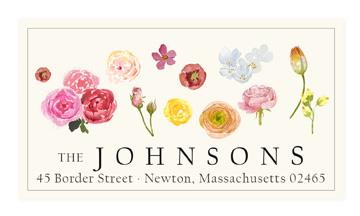 Custom Address Stickers - Nature's Palette