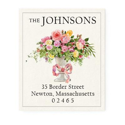 Custom Address Stickers - Floral Centerpiece