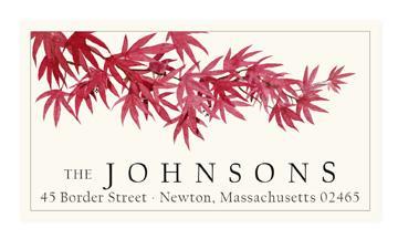 Custom Address Stickers - Japanese Red Maple