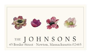 Custom Address Stickers - Variegated Anemone
