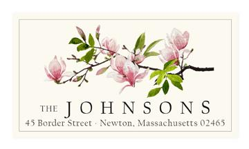 Custom Address Stickers - Magnolia Blossom