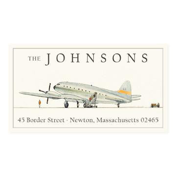 Custom Address Stickers - Air Travel