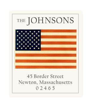 Custom Address Stickers - America
