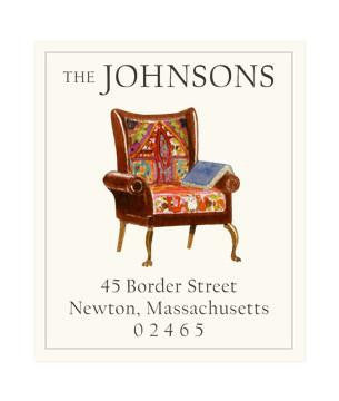 Custom Address Stickers - Arrow Chair