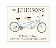 Custom Address Stickers - Blue Tandem (2 Styles Available)