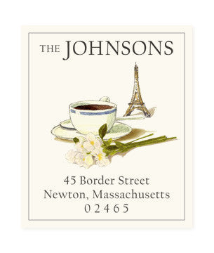 Custom Address Stickers - Bonjour