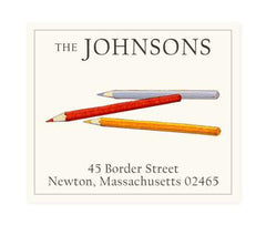 Custom Address Stickers - Colored Pencils