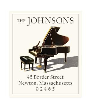 Custom Address Stickers - Piano