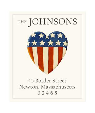 Custom Address Stickers - We Love Our Country