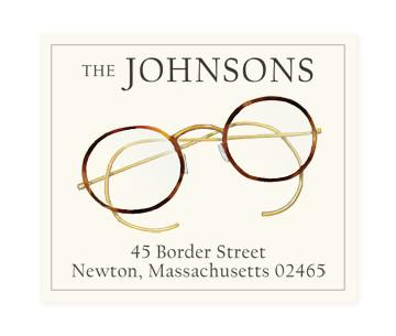 Custom Address Stickers - Spectacles