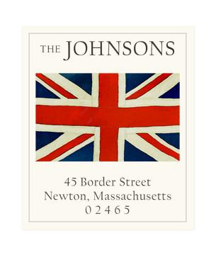 Custom Address Stickers - Union Jack