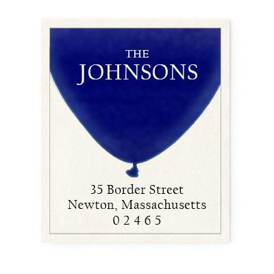 Custom Address Stickers - Balloon (7 Colors Available)