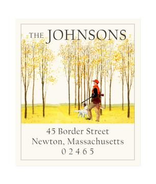 Custom Address Stickers - Autumn Field
