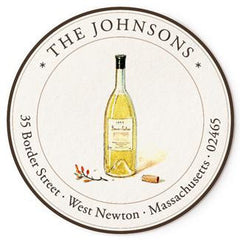 Custom Address Stickers - Chardonnay
