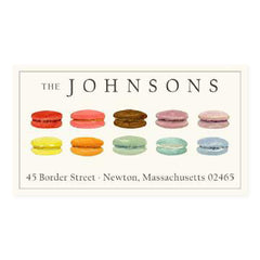 Custom Address Stickers - Rainbow Macarons