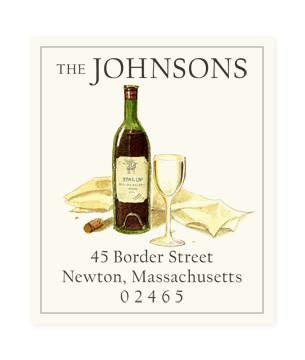 Custom Address Stickers - Red Wine