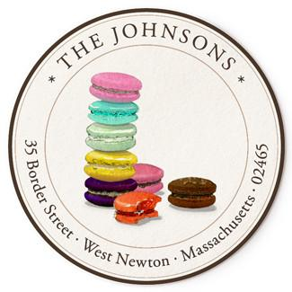 Custom Address Stickers - Tour de Macarons
