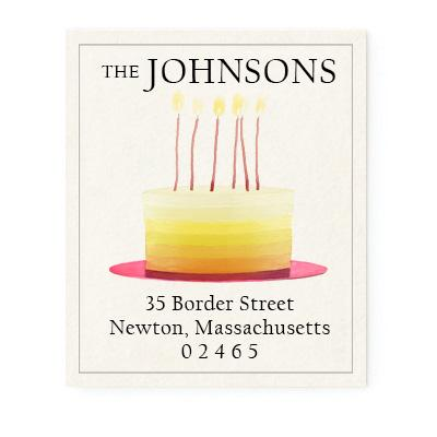 Custom Address Stickers - Ombre Cake