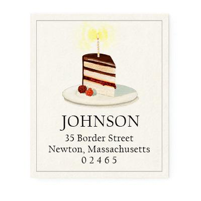 Custom Address Stickers - Slice of Cake