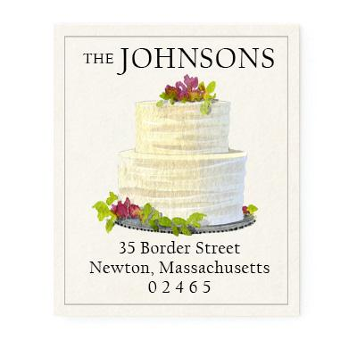 Custom Address Stickers - Cream Tiered Cake