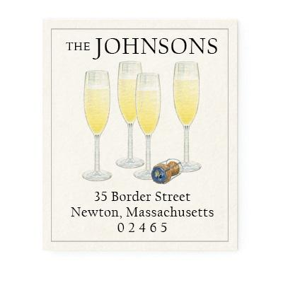 Custom Address Stickers - Champagne Celebration