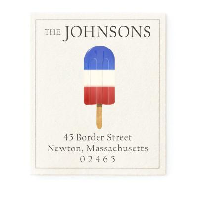 Custom Address Stickers - Patriot Popsicle