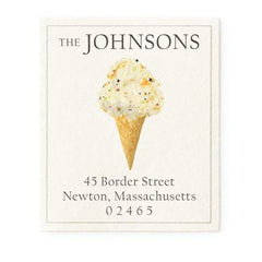 Custom Address Stickers - Ice Cream Cone (5 Flavors Available)