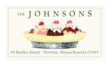 Custom Address Stickers - Banana Split