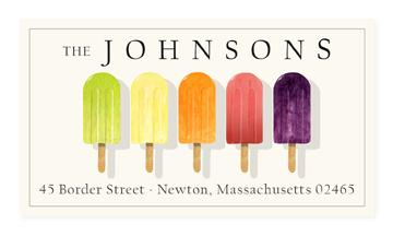 Custom Address Stickers - Popsicles