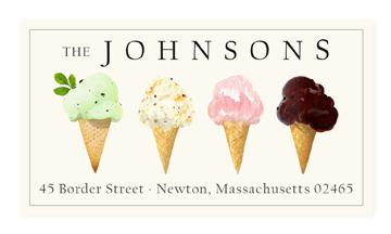Custom Address Stickers - Ice Cream