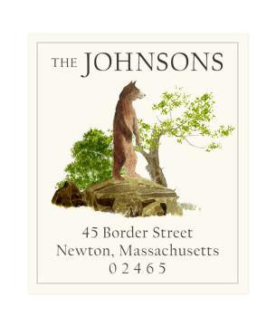 Custom Address Stickers - Bear Rock
