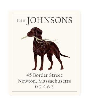 Custom Address Stickers - Chocolate Lab