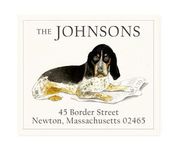 Custom Address Stickers - Basset Hound