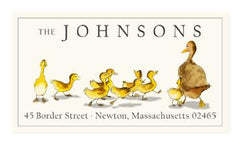 Custom Address Stickers - Ducklings
