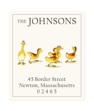 Custom Address Stickers - Five Little Ducklings