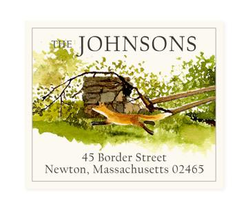 Custom Address Stickers - Fox and Fence (2 Styles Available)