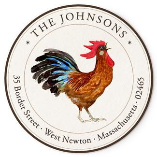 Custom Address Stickers - Rooster Rouge (2 Styles Available)