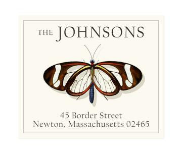 Custom Address Stickers - Glassy Butterfly