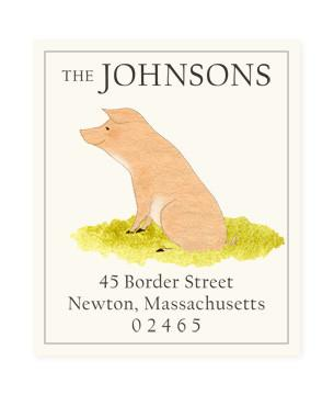 Custom Address Stickers - Little Piggy