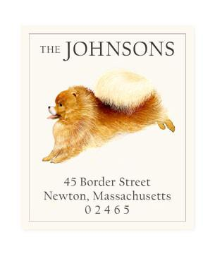 Custom Address Stickers - Pomeranian