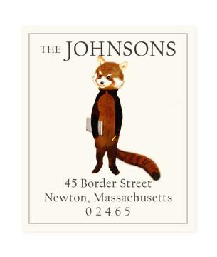 Custom Address Stickers - Red Panda