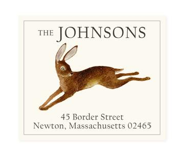 Custom Address Stickers - Running Hare (2 Styles Available)