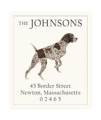 Custom Address Stickers - Shorthair Pointer