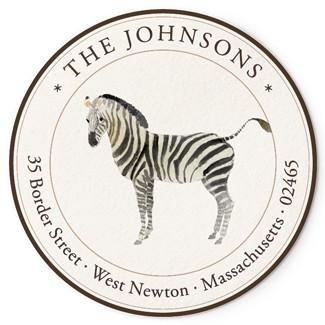 Custom Address Stickers - Zebra