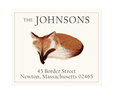 Custom Address Stickers - Pensive Fox