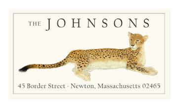 Custom Address Stickers - Resting Cheetah