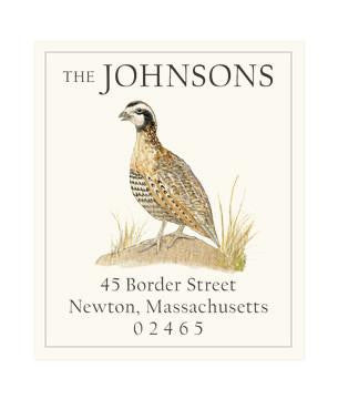 Custom Address Stickers - Bobwhite Quail