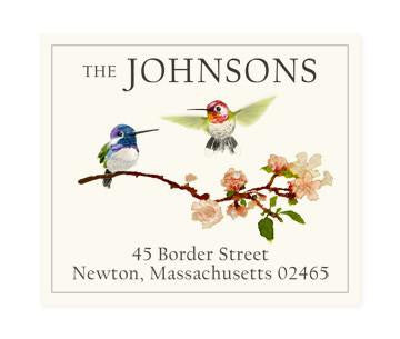 Custom Address Stickers - Hummingbirds