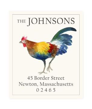 Custom Address Stickers - Italian Rooster