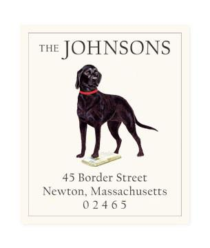 Custom Address Stickers - Black Lab
